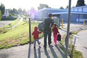 family-going-to-school